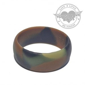 TOUGH LOVE – Camo GREEN Silicone Ring (Wide band, 8.7mm)