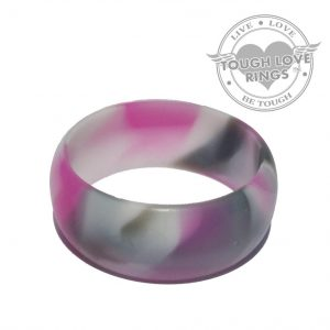 TOUGH LOVE – Camo PINK Silicone Ring (Wide band, 8.7mm)