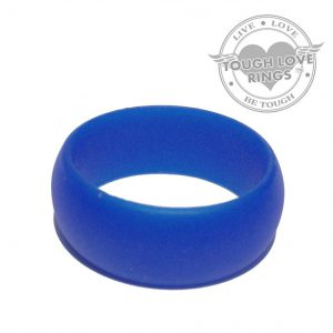 TOUGH LOVE – Solid DARK BLUE Silicone Ring (Wide band, 8.7mm)