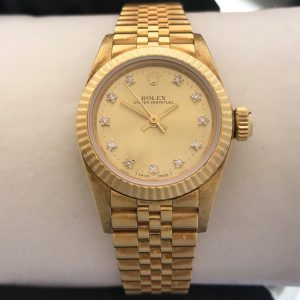 Coming Soon – Ladies Rolex Oyster Perpetual Solid Gold Diamond Dial