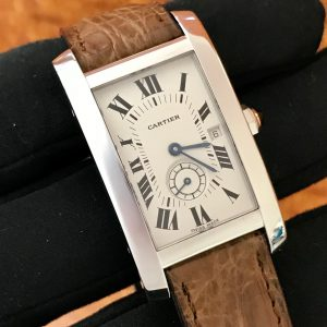 Available – Cartier Tank Americaine 18K White Gold